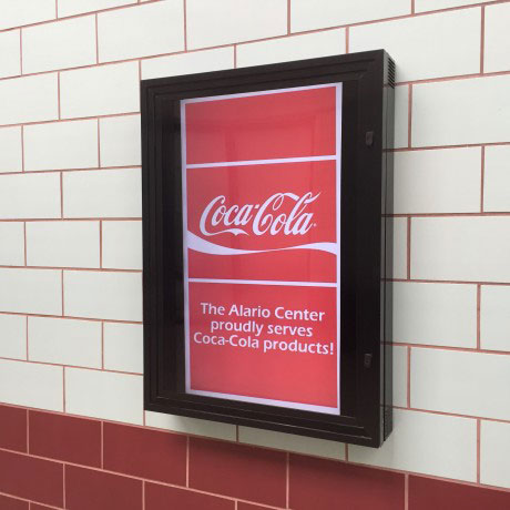 Coke Lobby Sign